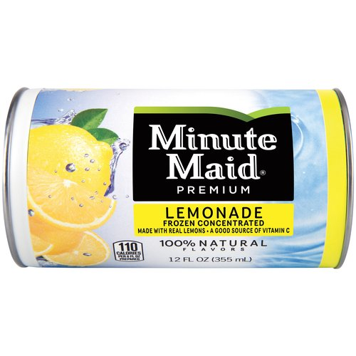 Classics never go out of style. Made with the goodness of real lemons, Minute Maid Lemonade is the quintessential refreshing beverage with the great taste of a simpler time.