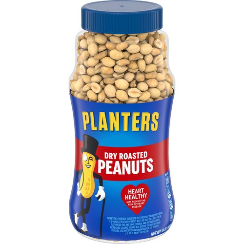 Plastic, resealable canister makes it easy to keep the peanuts fresh. Dry roasted and enhanced with a dash of sea salt.