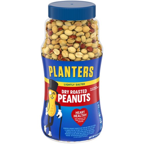 Plastic, resealable canister makes it easy to keep the peanuts fresh. Dry roasted and lightly salted with sea salt.