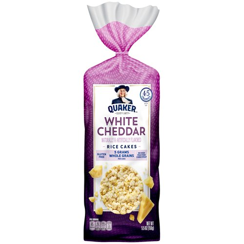 Naturally & artificially flavored. Made with whole grain. 45 calories per cake. Low fat. 0g trans fat.