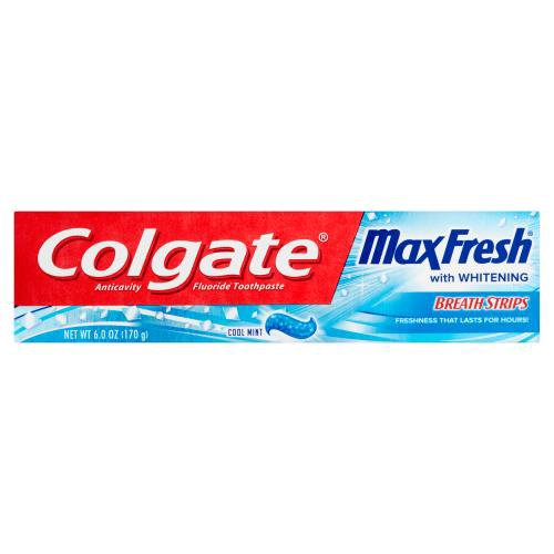 You can breathe confidently with Colgate Max Fresh Toothpaste with Breath Strips and a great Cool Mint flavor.