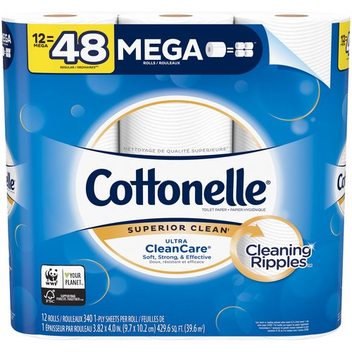 This single ply toilet tissue is uniquely designed with a CleaningRipples Texture that removes more & is 3x times thicker and stronger, and 2x more absorbent vs. the Leading National Value Brand.