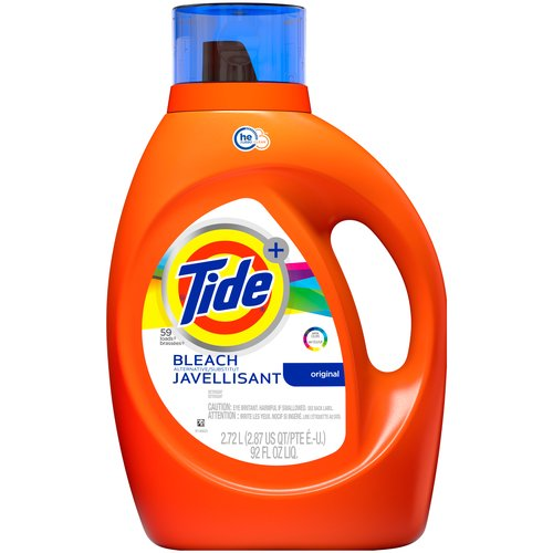 High efficiency turbo clean, 48 Loads. Tide Plus Bleach Alternative offers more of the brilliant whiteness after just one wash vs. Tide Original. Part of the trusted Tide Plus Collection.