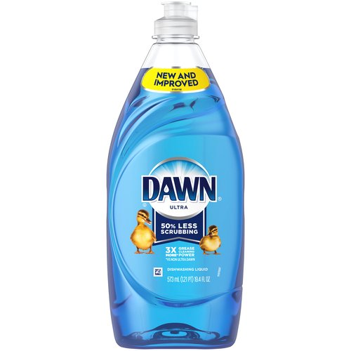 Contains 3X MORE Grease Cleaning Power (cleaning ingredients per drop vs. the leading bargain brand). Our NEW More Powerful Formula helps you get through more dishes with less dishwashing liquid.