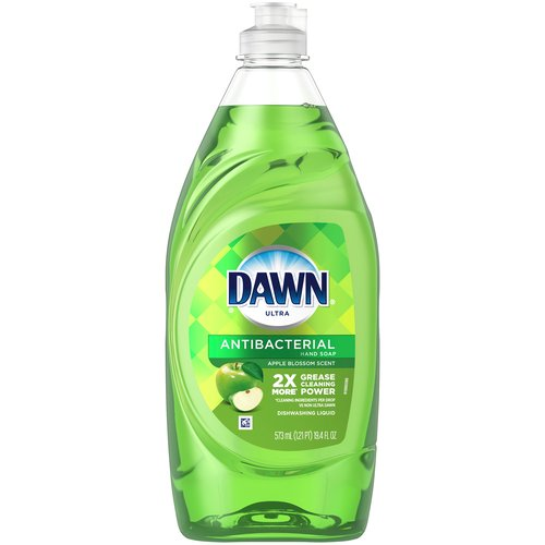 Antibacterial hand soap, apple blossom. Dawn Antibacterial Hand Soap, Dishwashing liquid dish soap helps fight germs on hands when used as a hand soap. Apple Blossom Scent.