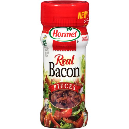 Great on potatoes, eggs, pizza and more. Top your favorite recipe with Real Bacon Pieces. Add savory flavor to any meal.