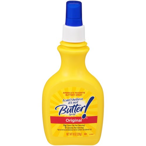 I Can't Believe It's Not Butter! Spray is perfect for grilling, topping and more. Spray butter flavor onto your favorite foods and make them even more delicious!