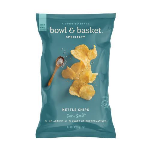 Bowl & Basket Specialty Sea Salt Kettle Chips, 8 oz