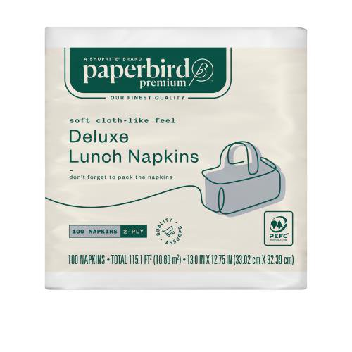 Paperbird Premium 2-Ply Deluxe Lunch Napkins, 100 count