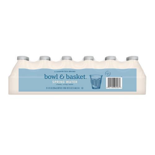 Bowl & Basket Spring Water, 8 fl oz, 24 count