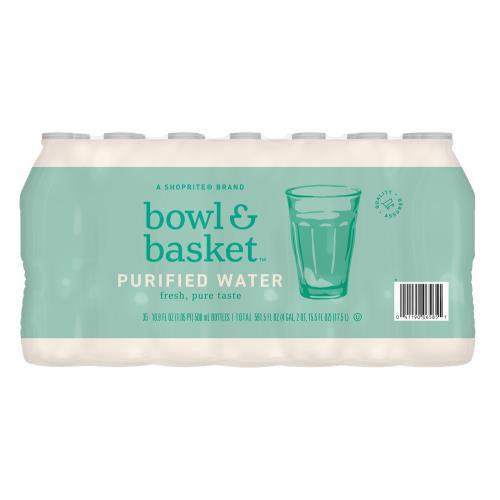 Bowl & Basket Purified Water, 16.9 fl oz, 35 count