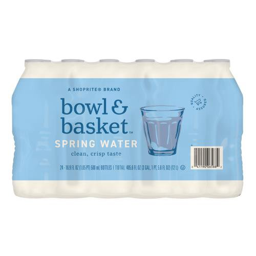 Bowl & Basket Spring Water, 16.9 fl oz, 24 count