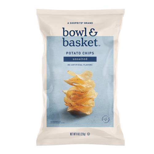 Bowl & Basket Unsalted Potato Chips, 8 oz