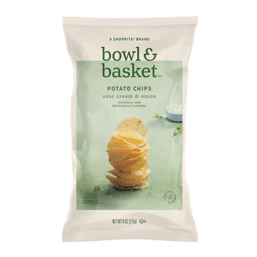 Bowl & Basket Sour Cream & Onion Potato Chips, 8 oz