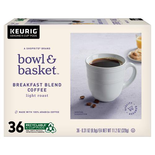 A ShopRite® brand. Made with 100% Arabica coffee. A rich, great-tasting cup of coffee. Balanced and light roasted with sweet citrus notes. Food is at the heart of it all.  At Bowl & Basket, we make our food for the moments that bring us together, and make life that much better ...  From our basket t (11.2 oz)