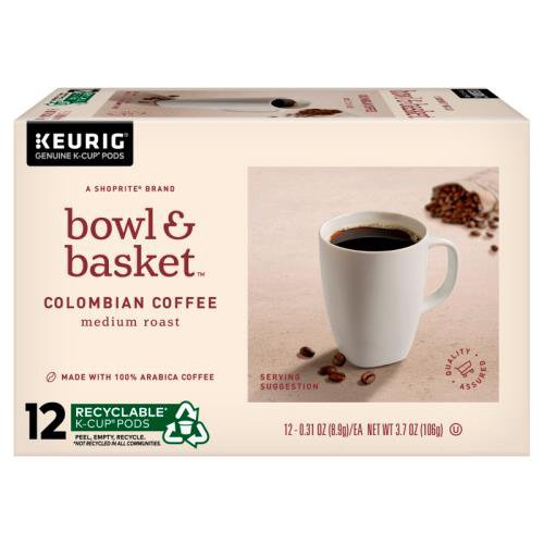 A ShopRite® brand. A rich, great-tasting cup of coffee. Full-bodied, vivid, and complex. Medium roast with sweet fruity and nutty notes. Food is at the heart of it all.  At Bowl & Basket, we make our food for the moments that bring us together, and make life that much better ...  From our basket to  (3.7 oz)