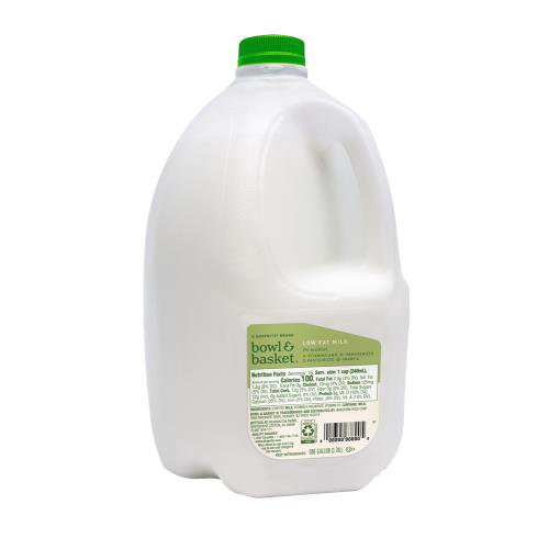 Bowl & Basket Low Fat Milk, one gallon