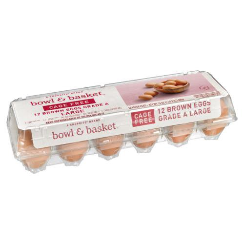 Bowl & Basket Cage Free Brown Eggs, Large, 12 count, 24 oz