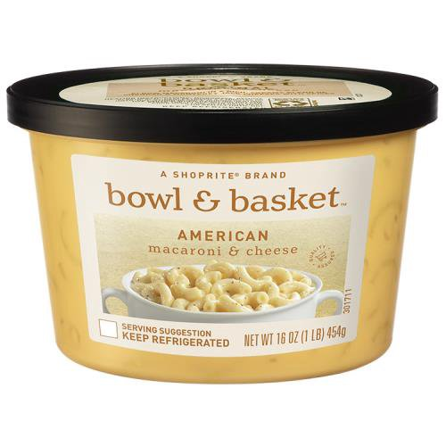 A ShopRite brand. Elbow macaroni in a 'just like grandma made' American cheese & rich, creamy blend of yellow cheddar make this the ultimate comfort food