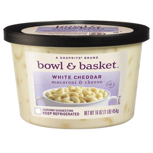 A ShopRite brand. Elbow Macaroni Blends with the Delicate, Mild Flavor of White Cheddar Cheese, Sweet Cream, Homestyle Seasonings & a Pinch of Sea Salt