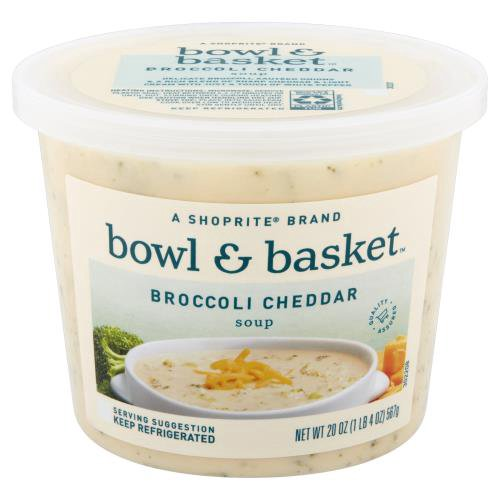A ShopRite brand. Delicate Broccoli, Sauteed Onions & a Rich Blend of Sharp Cheddar & Light Cream with Just a Touch of White Pepper.