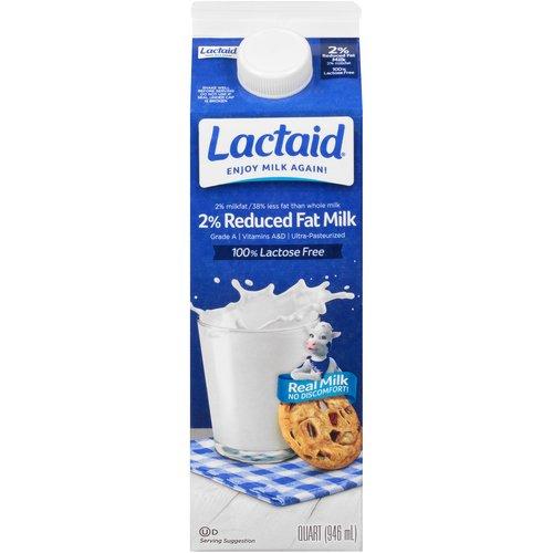 1 Quart - 2% Milk fat. 100% Lactose free. Grade A. Vitamins A & D. Ultra-pasteurized.