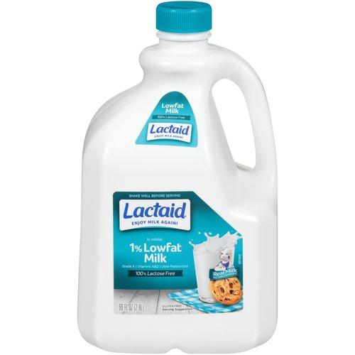 1% Milkfat. 100% lactose free. Grade A. Vitamins A&D. Ultra-pasteurized.