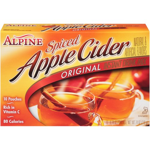 Natural & artificial flavors. Instant, just add hot water. Naturally caffeine free, rich in Vitamin C. 10 individual pouches.