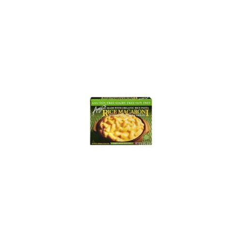 Single serving vegan gluten-free frozen entree. Gluten-free elbow macaroni rice noodles covered in a smooth non-dairy cheeze sauce. Soy free. Dairy free. No cholesterol. Kosher. Non-GMO.