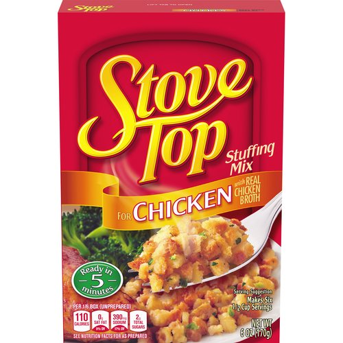 Tastes like it's made from scratch, with real chicken broth. Ready in just 5 minutes. 110 calories per serving; 6 servings per package.