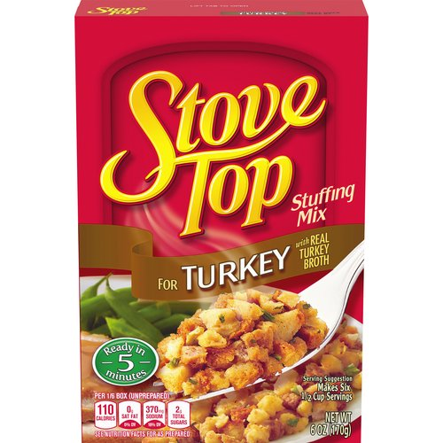 Tastes like it's made from scratch, with real turkey broth. Ready in just 5 minutes. 110 calories per serving; 6 servings per package.