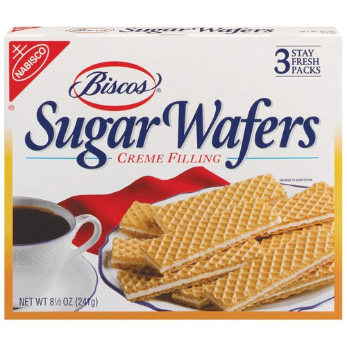 Biscos Sugar Wafers are the perfect combination of our rich creamy filling, sandwiched between light-tasting wafers.