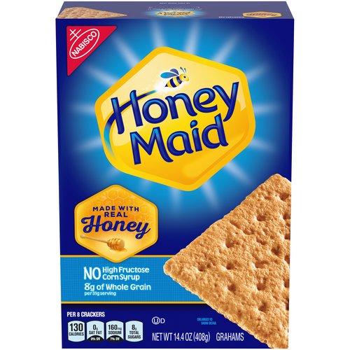 Honey Maid Graham Crackers are made with real honey and contain no high-fructose corn syrup, saturated fat, or cholesterol. They're the perfect snack for at home or on the go.