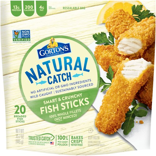 Always crispy, never fried. At just 170 calories per serving, Gorton's Smart & Crunchy Fish Sticks have all the classic flavor with less guilt.