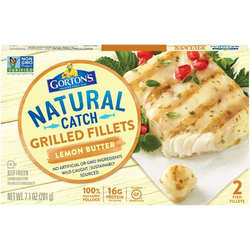Load up on flame-grilled flavor without being weighed down. At only 80 calories, Gorton's Lemon Butter Grilled Fillets are a tasty solution for any appetite — as delicious as they are wholesome.