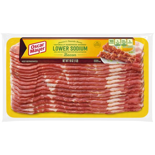 30% Less sodium than our regular bacon.