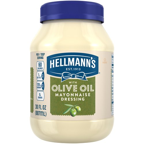 Hellmann's Mayonnaise Dressing with Olive Oil combines the creamy, rich taste you love from Hellmann's with the delicious goodness of olive oil. It's simple.