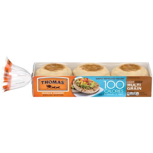 The original Nooks & Crannies English Muffin with 100 calories and 8 grams of fiber keeps your diet in check.