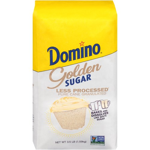 Bakes and Dissolves Like White Sugar; Contains: Approximately 8 Cups; 1 Cup White Sugar = 1 Cup Golden Sugar
