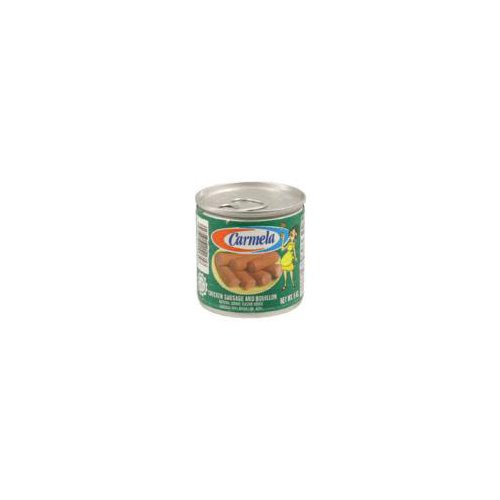 Natural smoke flavor added. Sausage 60% bouillon 405. Inspected for wholesomeness by U.S. Department of Agriculture.
