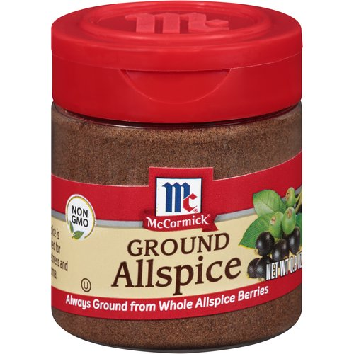 Allspice, which hails from the Caribbean, combines the warm flavors of cloves, cinnamon and nutmeg. It's a key player in Jamaican jerk seasoning and a good friend to savory and sweet dishes. Zesty, sweet allspice is at home in rubs and marinades, hot cider and punch, and spiced cake and cookies.