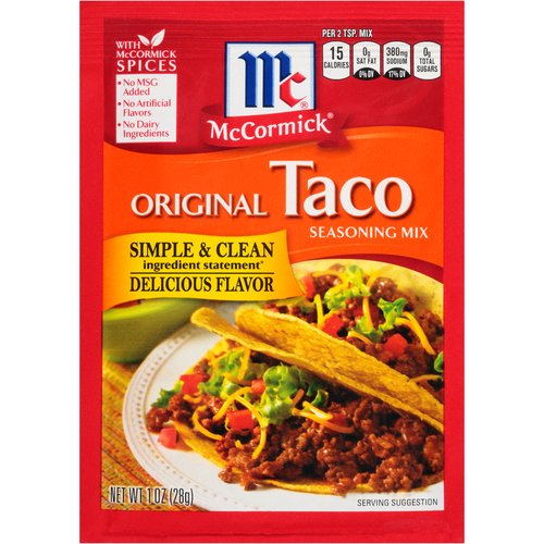 Turn dinner into fun-filled fiestas with these family-favorite tacos. This signature blend of McCormick spices is from America's favorite Herb and Spice brand with no artificial flavors or MSG.