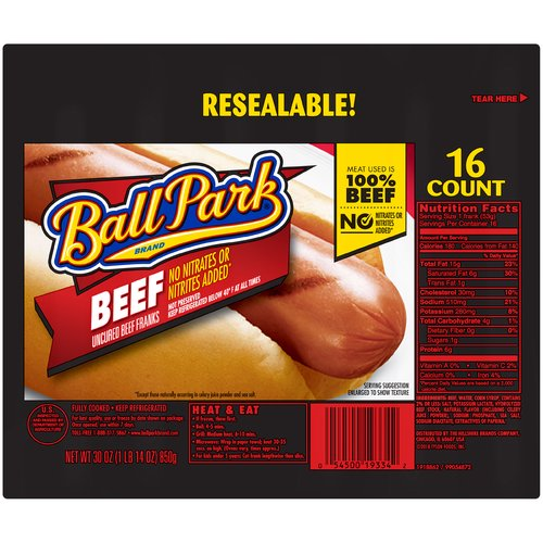 These hot dogs are made with 100% beef and no added nitrites or nitrates*, no by-products or fillers, and no artificial flavors. *Except those naturally occurring in sea salt and celery juice powder