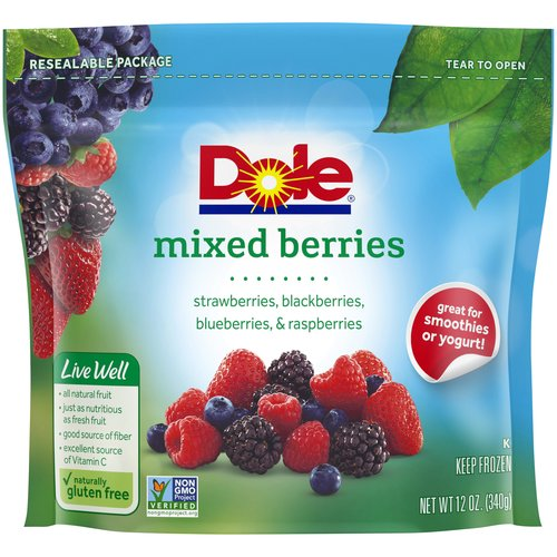 Picked ripe, fresh frozen. All-natural fruit with no artificial flavors or sugar added.