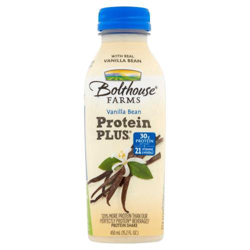 Vanilla protein shake. 30 g protein per bottle. 21 vitamins and minerals. New and improved formula has 28% less sugar. Made with real vanilla bean.