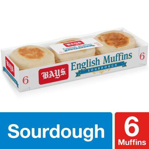 Bays Sourdough English Muffins come pre-sliced and offer rich, tangy flavor in the tradition of classic Sourdough. Theyre perfect paired with butter, grilled as a panini, or as a quick snack.