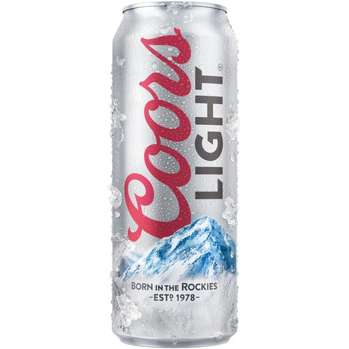 Coors Light was born in the Rockies, a setting that continues to inspire our brewing.  Coors Light is lagered below freezing & cold-filtered, resulting in brilliant clarity, & a clean, crisp taste.