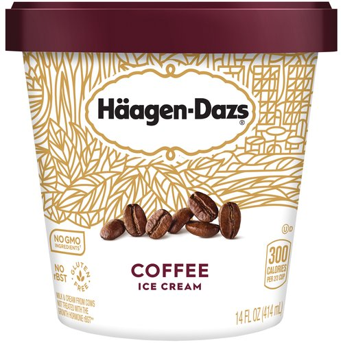 Premium ice cream made with roasted Brazilian coffee beans.