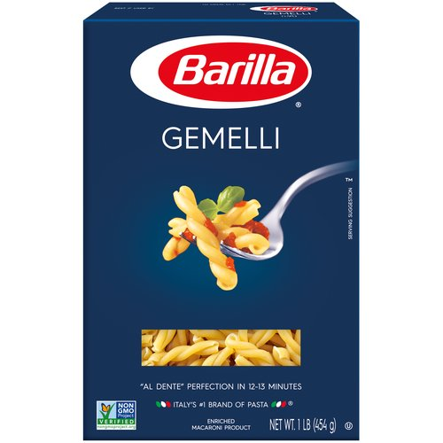 1.00 lb. Al Dente' Perfection in 12-13 Minutes. Enriched Macaroni Product.