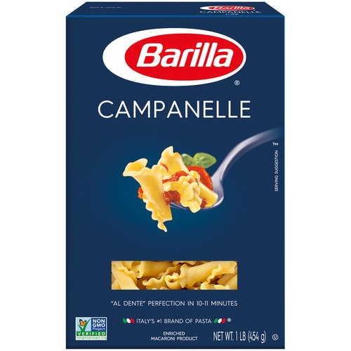 1.00 lb. Al Dente' Perfection in 10-11 Minutes. Enriched Macaroni Product.